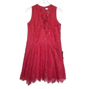 Adelyn Rae Coral Pink Lace Dress